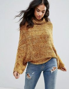 Free People Velvet Dreams Maglione dolcevita in misto lana