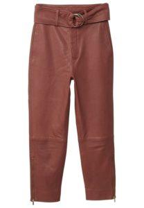 Mango PAPPER Pantaloni di pelle brown