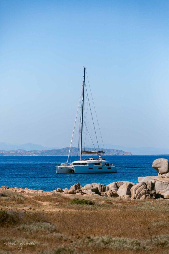Catamarano in mare Corsica Isola di Lavezzi Foto Nuovi Giorni Blog