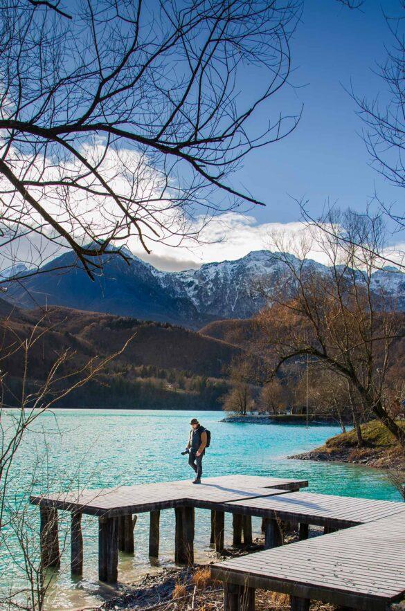 Lago di Barcis lungolago camminata Friuli Venezia Giulia