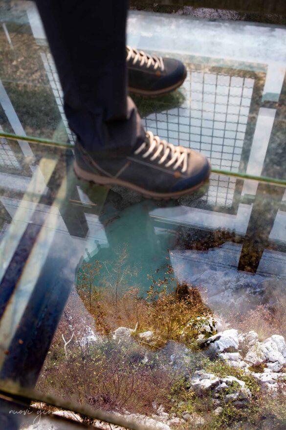 Lago di Barcis sentiero del dint skywalk Parco dolomiti friulane