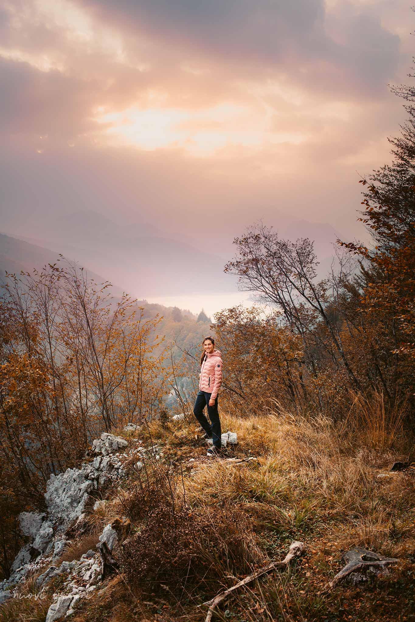 Lago di Barcis dal sentiero del Dint Terzo Belvedere dall'alto